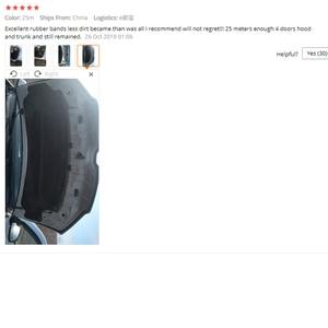 Image 5 - L tipi araba kapı kauçuk conta şerit çift katmanlı sızdırmazlık yapışkan çıkartmalar araba yalıtım Weatherstrip oto iç aksesuarları