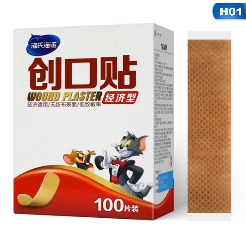 100PC Waterproof Breathable Cute Band Aid Hemostasis Adhesive Bandages First Aid Emergency Kit For Kids Children