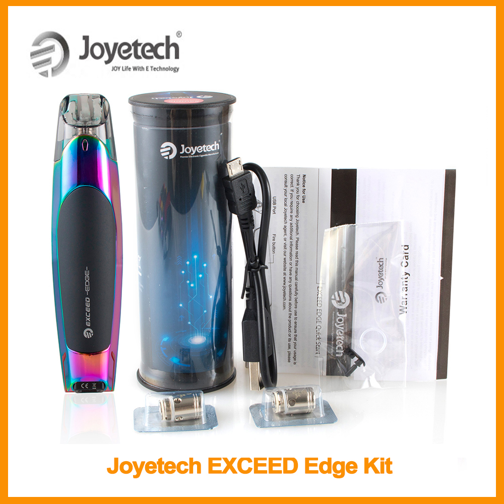 Big Sale Original Joyetech EXCEED Edge Kit 2ml Eliquid Built In 650mAh Battery With EX 1.2ohm MTL Coil Vape Kit E-Cigarette