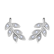 PISSENLIT Women Jewelry Statement Charming Leaf Ear-hook Stud Earring Earrings pendientes mujer moda 2019 Korean Style