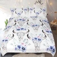 Flor shofar padrão de alta qualidade casa têxtil colcha capa com 2 fronha impressão 3d cama 3 peças conjunto e folha