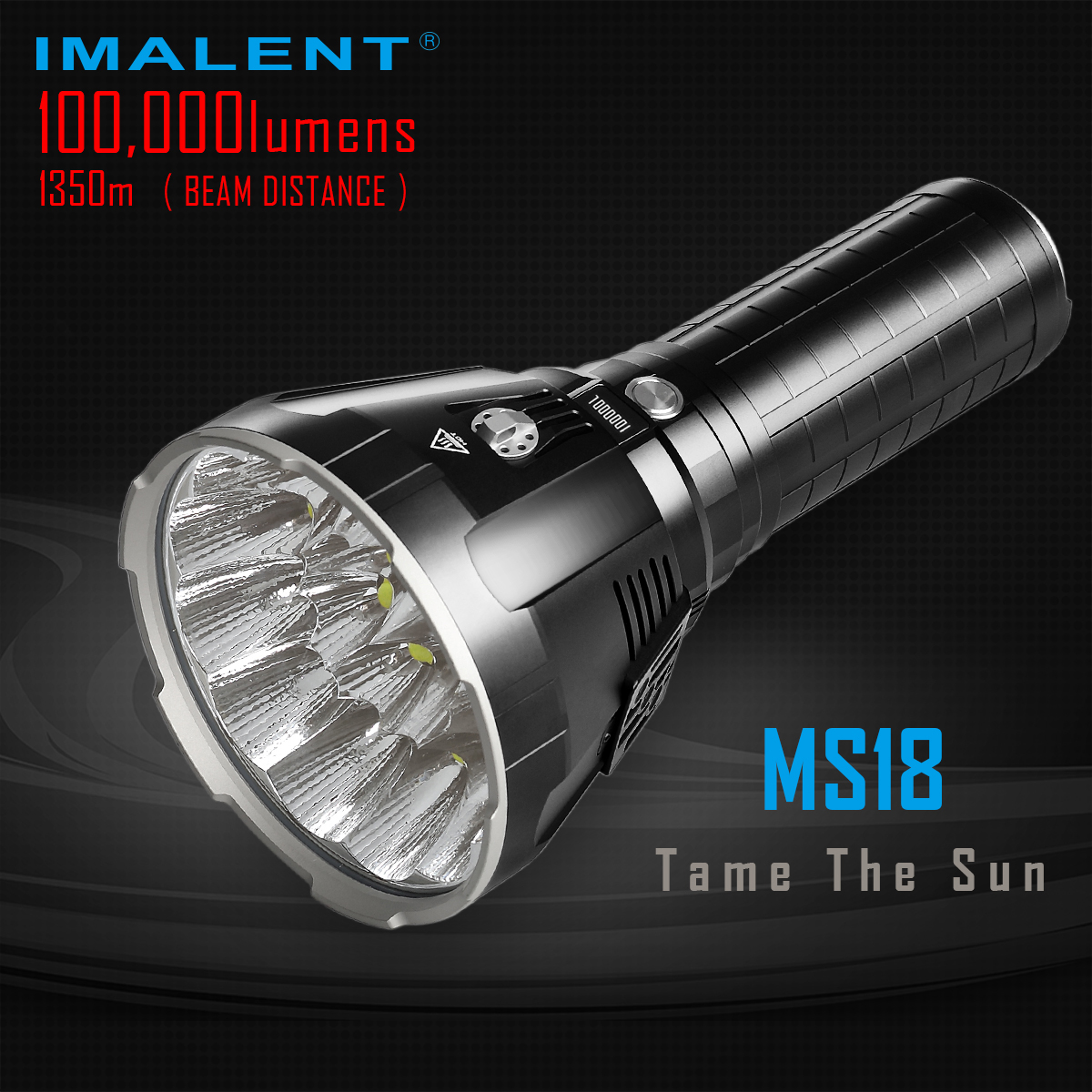 IMALENT MS18 Brightest Flashlight 100000 Lumens Rechargeable Cree XHP70.2 Led Searchlight Camping Hunting Lantern Outdoor Torch