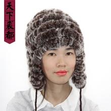 Зимние шапки из натурального меха женские вязаные шапки из кроличьего меха с шариковыми ушками повседневные женские шапки-бомберы шапки бини бренд