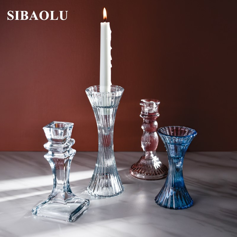 Nordic Glass Candlestick Decoration Home Dining Table Restaurant Crystal Stand Christmas Decorations For Home Table Centerpiece Candle Holders Aliexpress