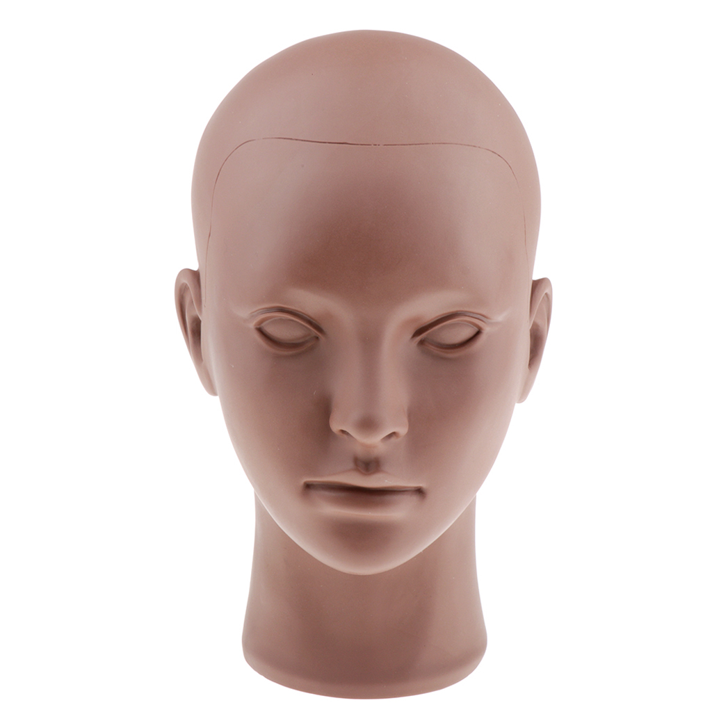 20'' PVC Cosmetology Makeup Mannequin Head Wig Hat Display Manikin For Makeup, Eyelash Extension And Massage Training