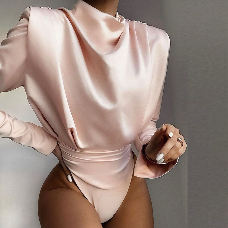 Hbccd38e7251d4bcd904c7a2d5552ef2ev - Artsu Elegant Satin Pink Blouse Long Sleeve Bodysuits Tops Women Spring New Romper Mujer Ladies Cute Shirts ASJU60703