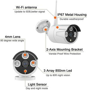 Image 4 - Security Camera System Wireless 8CH 1080P NVR Kit 4pcs 720P(1.0M) Outdoor CCTV Wireless IP67 Camera Video Surveillance by OOSSXX