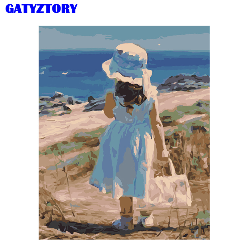 GATYZTORY Frame DIY Digital Painting By Numbers Figure Painting Landscape Kits Hand Painted Unique Gift For Child Handmade