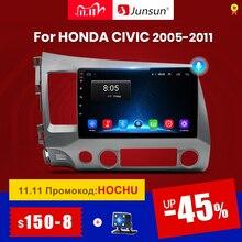 Junsun V1 2グラム + 32グラムandroid 10.0 dsp車ラジオマルチメディアビデオプレーヤーホンダシビック8 2005 2011ナビゲーションgpsなし2din 2 din dvd