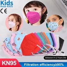 Multi Color FFP2 niños Kids Masks 5 Layer KN95 masque Children 95% Filtration 9-12 old ffp2 KN95 Face maske Mascarillas niños