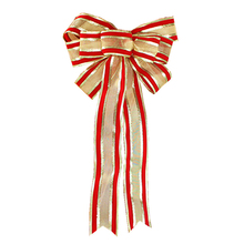 2018 New Ribbon Christmas Decoration Bow Pendant Ornaments Santa Claus Bell Of Tree Bows Decorations Trees