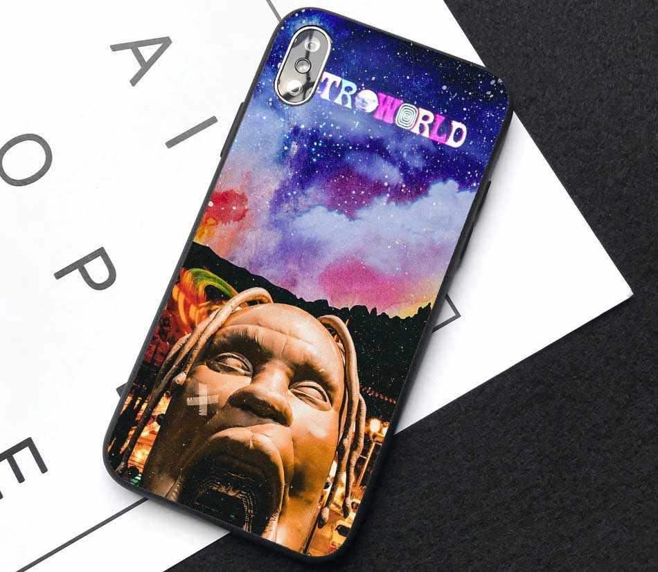 Travis Scott Astroworld Datum Tour teddybeer zachte siliconen telefoon case voor iPhone MAX XR XS X SE 5 5S 6 7 8Plus 11 Pro MAX 2019