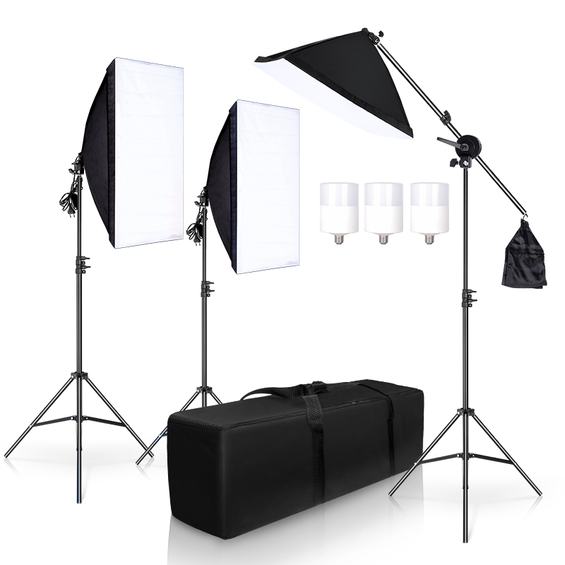 Photography Studio Softbox Lighting Kit Arm for Video YouTube Continuous Lighting Professional Lighting Set Photo Studio
