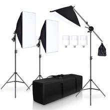 Photography Studio Softbox Lighting Kit Arm for Video YouTube Continuous Lighting Professional Lighting Set Photo Studio