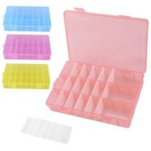 24 Grids Plastic Jewelry Storage Box Multipurpose Adjustable Detachable Beads Earrings Display Case