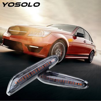 YOSOLO Error Free Auto Lamp Car Indicator Turn Signal Lights DC 12V LED Side Marker Light For BMW E90 E91 E92 E60 E87 E82 E61 image