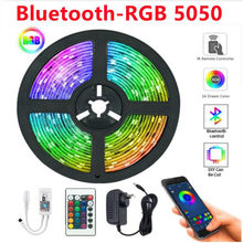 RGB 5050 LED Light Strips Infrared Remote Control Decoration Lighting Ribbon Lamp For Festival Party Bedroom RGB 2835 BackLight