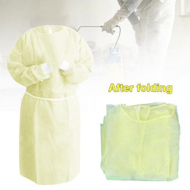 10Pcs Disposable Bandage Coverall Gown Anti Dust Isolation Clothes Labour Suit Nonwoven Protection Safety Clothing Hat PPE Kit