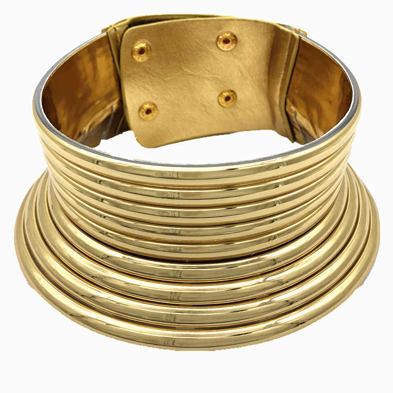 New Fashion African Necklace Bridal Jewelry Women Necklace Gold Custom Choker Necklace Wedding Jewelry Gift