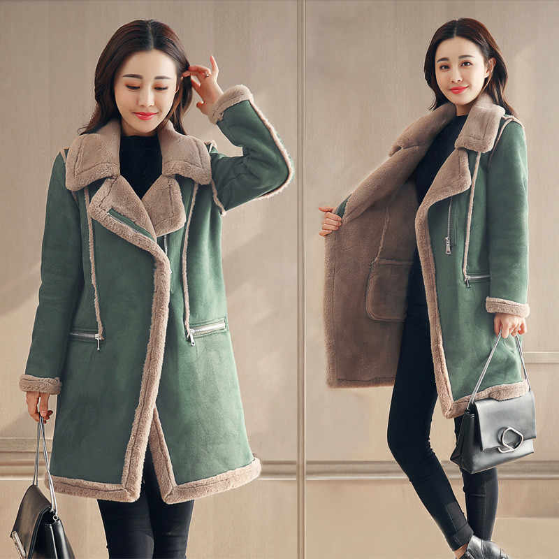 2019 New Womens Casual Hooded Thick Wool Trench Coat Jacket Fashion Warm Zip Up Lightweight Oversized Outwear