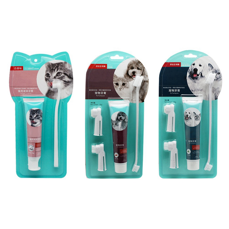 Pet Tooth Cleaning Kits Toothbrushes And Toothpastes For Cats And Dogs Pet Teeth Care Supplies image