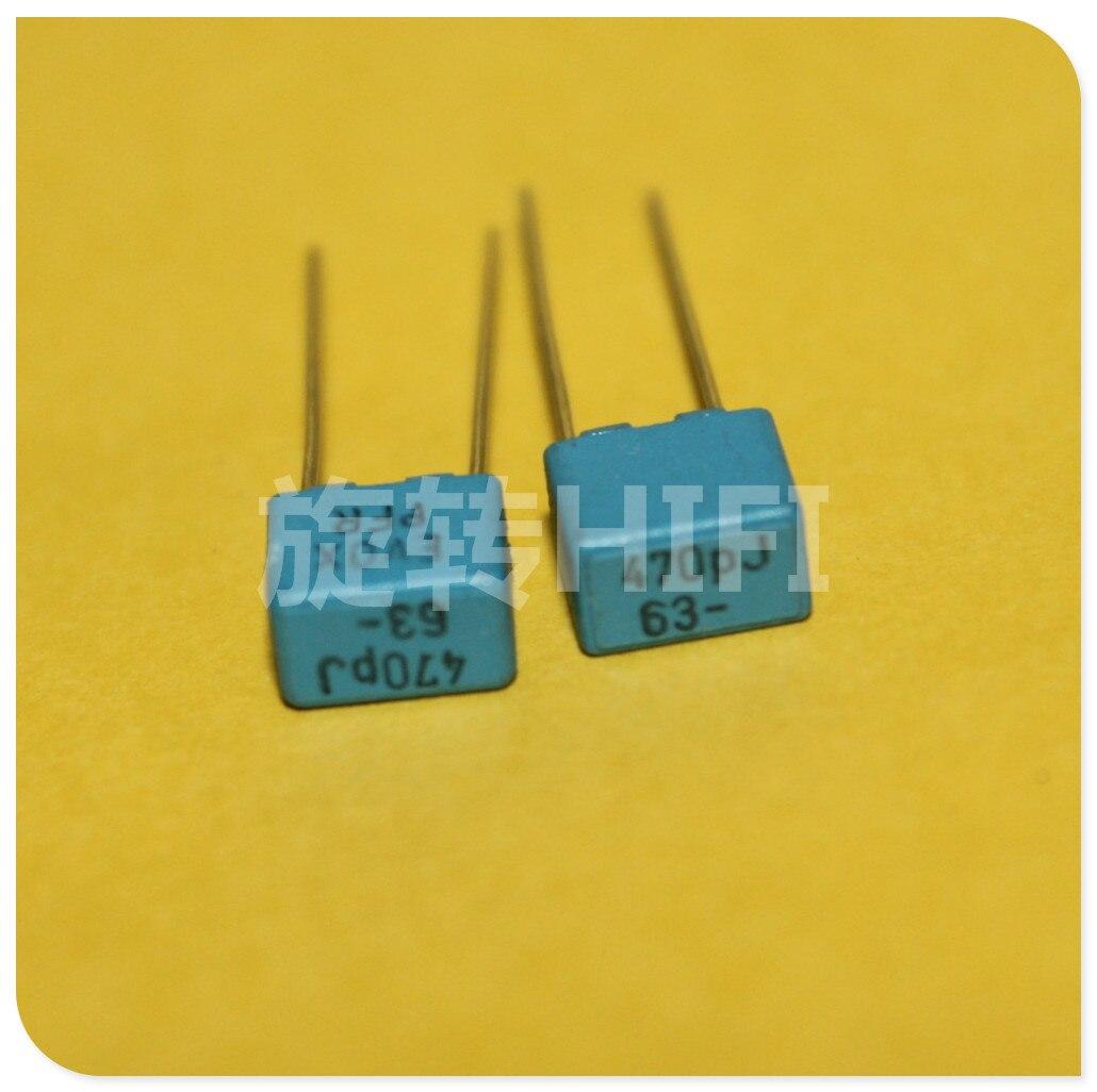 20PCS NEW EVOX PFR5 470PF 63V P5MM MKP 471 Film EVOX-RIFA PFR 470p 470pf/63v 0.00047UF 63VDC 471/63V
