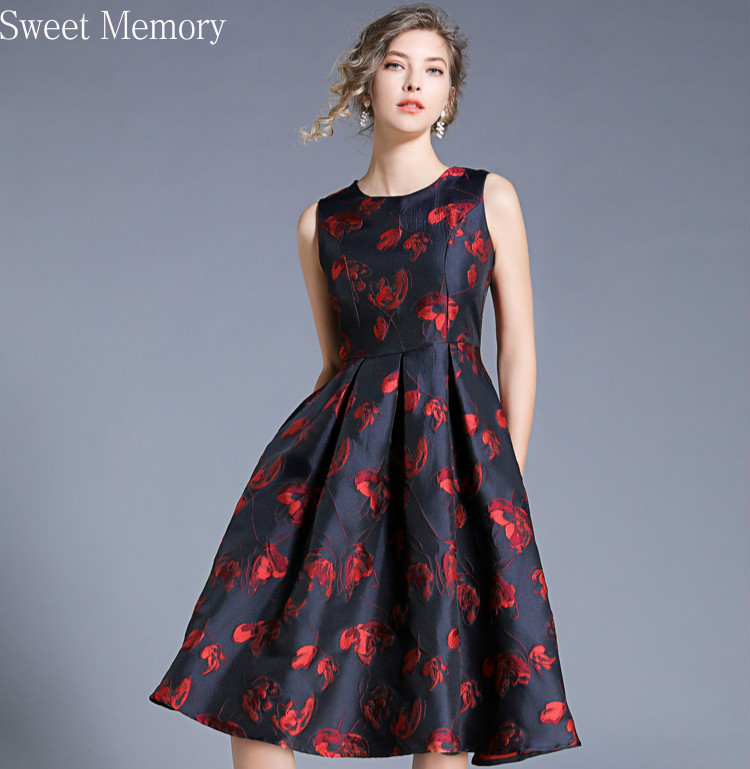 Sweet Memory 2021 Women Short Cocktail Dress Sexy Sleeveless Jacquard Dresses Lady Work Casual Party Prom Vestidos