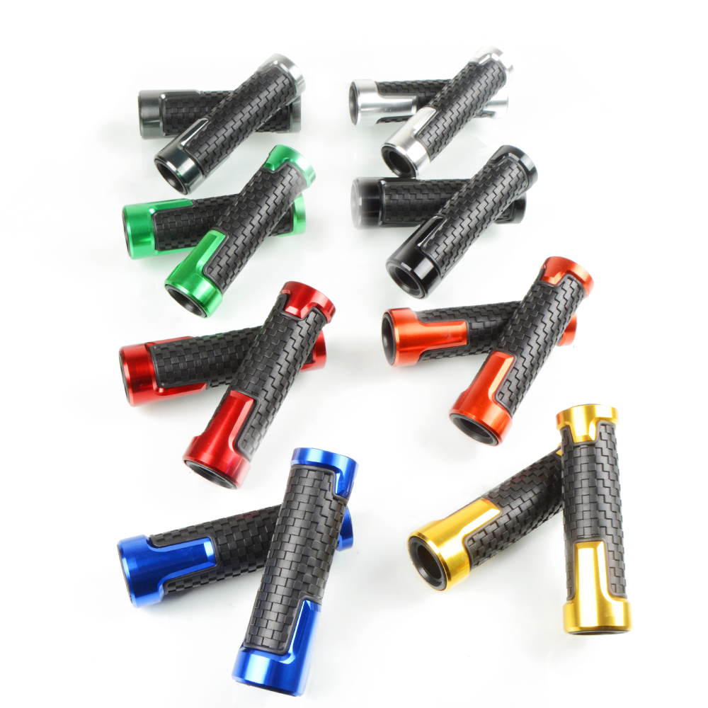 Motorcycle 7 8 quot 22mm Bicycle Grips Precision CNC machined Handlebar Grips Bar Cap Motor Hand Bar for HONDA Rs125 in Handlebar from Automobiles amp Motorcycles
