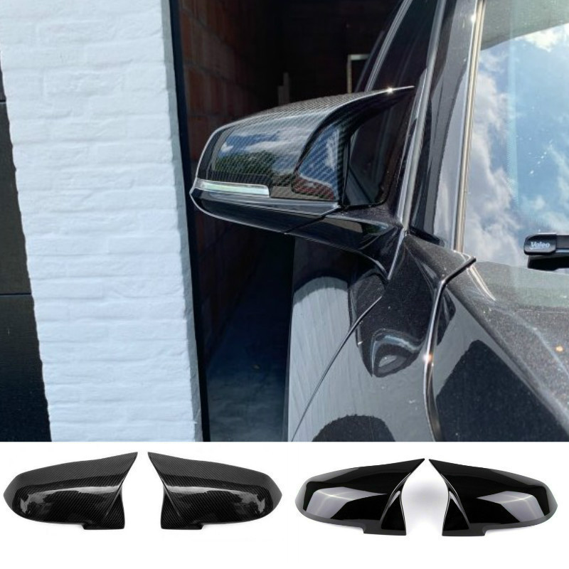 For BMW 1 2 3 4 X M Series Rear View Side Mirror Cover F20 F21 F22 F23 F30 F32 F36 X1 E84 F87 M2 Carbon Style Car Accessories image