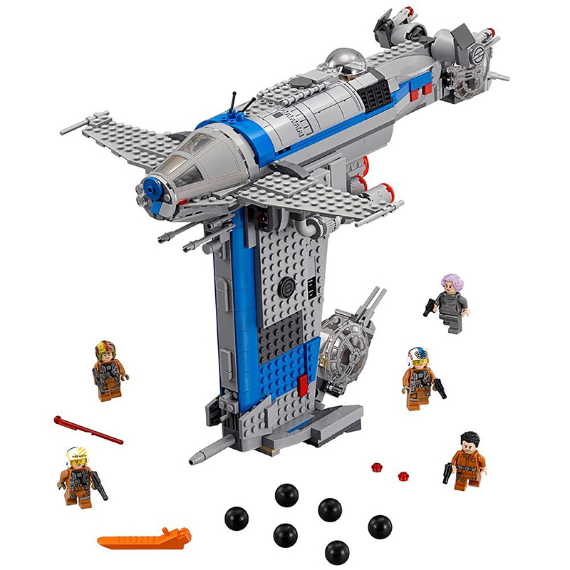 873pcs Building Blocks Toys Compatible Legoinglys Star Waring <font><b>75188</b></font> Rebel Bomber Genuine Star Wars Classic Series Starwar 05129 image