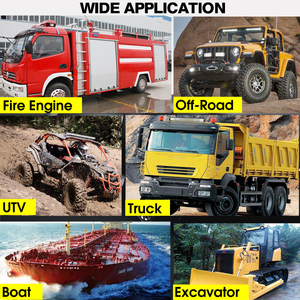 Image 2 - 12V 24V Offroad LED Light Bar Spot Flood Combo LED Work Light 5 Modes for Tractor Trailer Boat Off Road 4WD 4x4 Truck SUV ATV