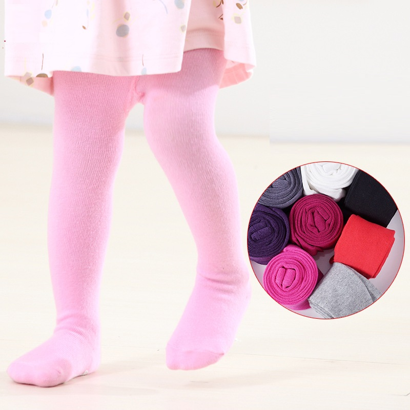 Cotton Baby Girl Tights Kids Girl Pantyhose Autumn Winter Toddler Tights Infant Knitted Collant Tights Stockings Infant Clothing