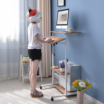 Simple and modern standing computer folding table home desktop desk simple liftable