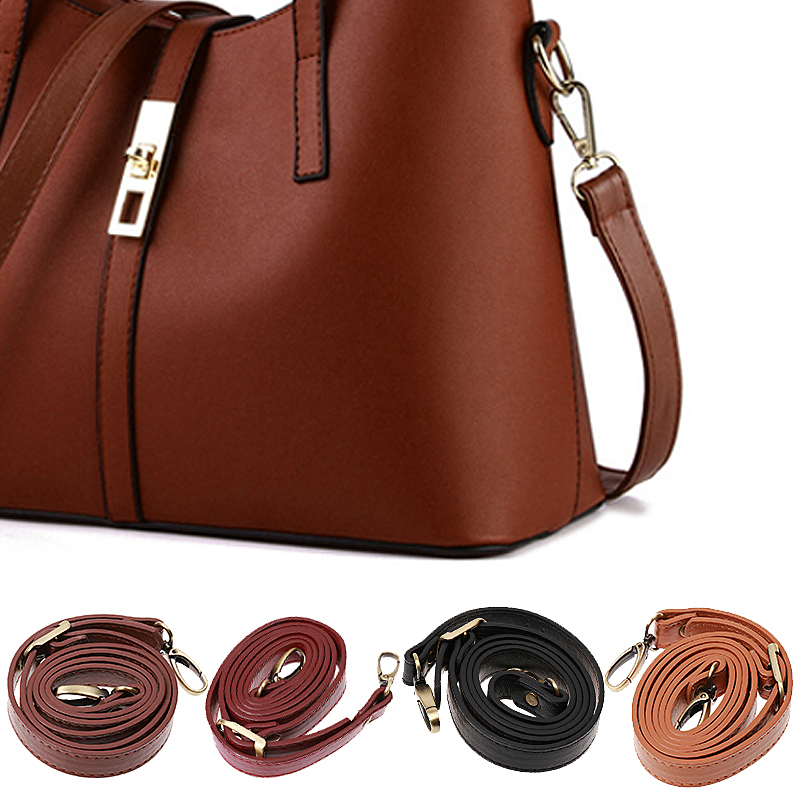 DIY Replacement PU Leather Bag Shoulder Strap Handle Cross Body Adjustable Bag Belt New Solid Bag Strap Replacement 120cm