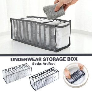 Underwear Storage Box with Compartments SocksBra Underpants Organizer Drawers Divider Box Storage Box Cabinet Drawer Divider