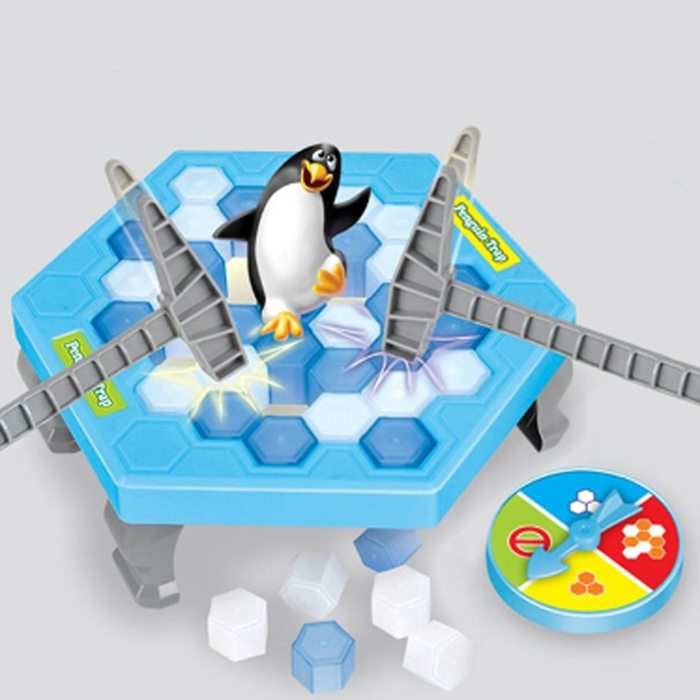 Penguin Icebreaker Beating Interactive Desk Table Game 1 Set Save Edc Learning Balance Ice Cubes Toys