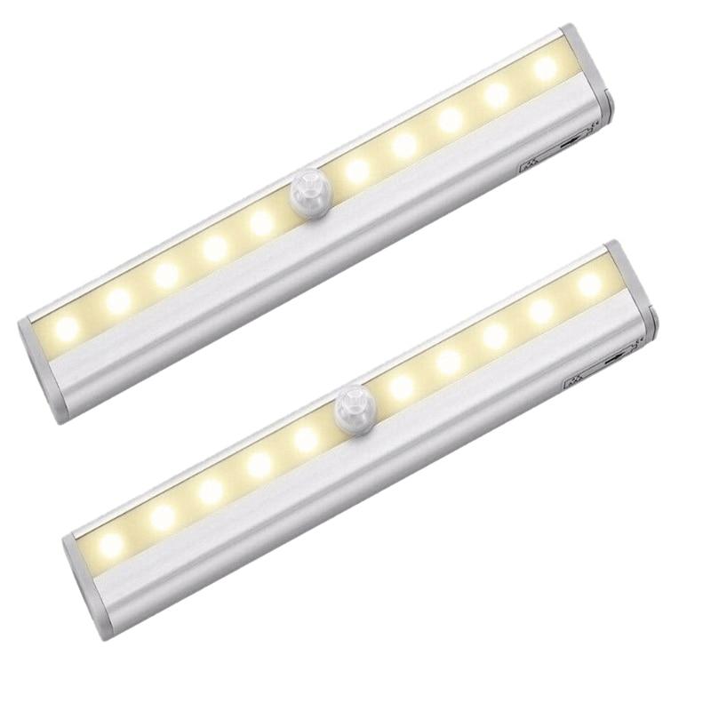 2X PIR LED Ceiling Light Ceiling Cabinet Cabinet Light Bar Motion Detector