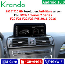 Krando Android 10.0 10.25 ''4G 64G Car Audio Voor Bmw 1 Serie F20 F21 2 Serie F23 cabrio 2011-2016 Audio Nbt Lhd Rhd Gps Wifi(China)