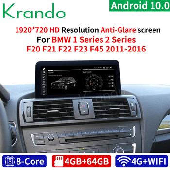 Krando Android 10.0 10.25'' 4G 64G Car Audio for BMW 1 Series F20 F21 2 Series F23 Cabrio 2011-2016 Audio NBT LHD RHD GPS WIFI image