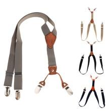 Unisex Kids Boy Adjustable Slim Trouser Braces Suspenders Belt Multi Colors