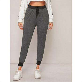 2020 Fashion Womens Pants Casual High Waist Slim Trousers Grey Black Spliced Fitness Girl Running Leggings Gym Thin Pencli Pants image