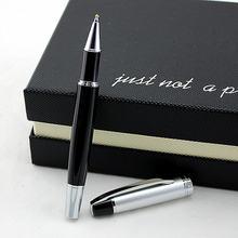 Высокое качество металлическая роликовая Шариковая ручка черная