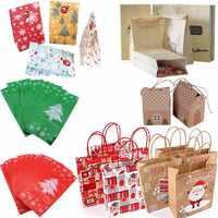 Noël papier cadeau boîte sacs 2019 décorations de noël pour la maison bonbons cadeau emballage en plastique papier sac Kerst nouvel an fournitures