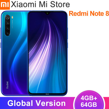 Global Version Xiaomi Redmi Note 8 4GB RAM 64GB ROM 48MP Rear Quad Camera Mobile Phone Snapdragon 665 Octa Core 6.3