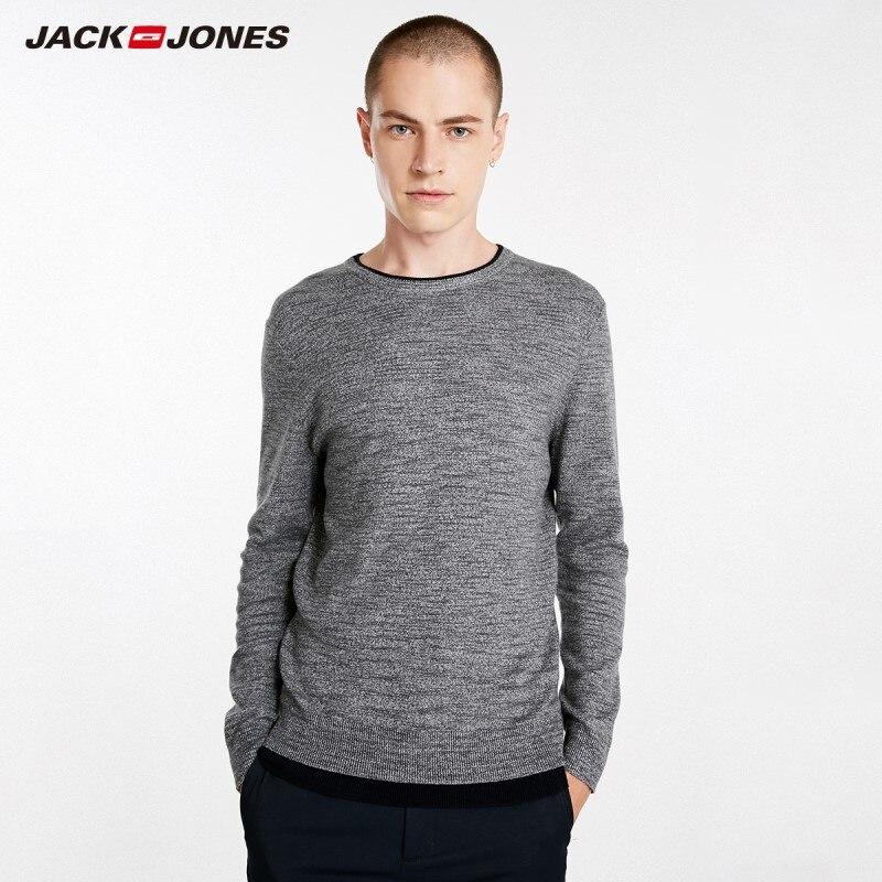 JackJones Autumn Men's Cotton Sweater Pullover Top Menswear 218324511