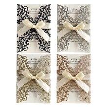 10 шт лазерная резка полые свадебные пригласительные открытки с бабочкой подарочные открытки бумажные обложки набор вечерние свадебные украшения открытки на день рождения