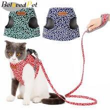 Blovedpet японский стиль кошка жилет поводок набор дышащая сетка
