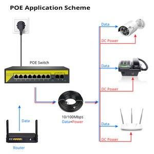 Image 2 - Hiseeu 48v 8/16ポートpoeスイッチイーサネット10/100mbpsのieee 802.3 af/ipカメラで/cctvセキュリティカメラシステム/ワイヤレスapフィート
