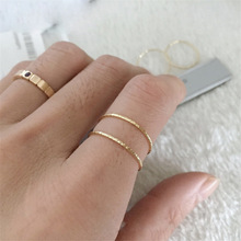 Gold Filled Rings Minimalism Jewelry Ladies Rings Indian Jewelry Knuckle Anillos Mujer Bohemian Bague Femme Anelli Aneis Rings