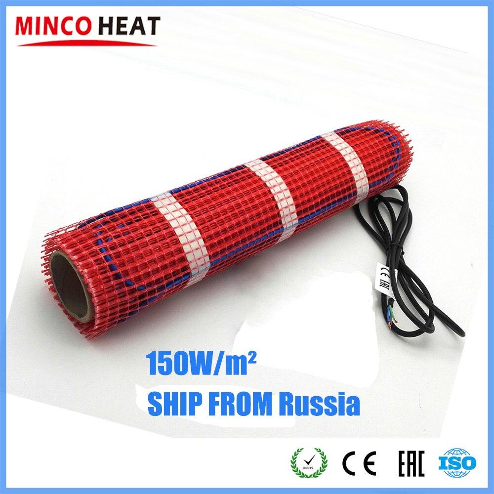 Esteira de aquecimento de piso base autoadesiva 0.5 - 15 m2 o sistema de aquecimento de piso de madeira da telha cerâmica 150w/m2
